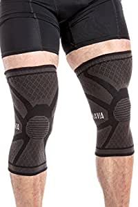 Mava Sports Knee Compression Sleeve Support (Black, Small)