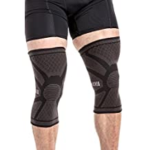 Mava Sports Knee Compression Sleeve Support (Pair) for Joint Pain & Arthritis Relief, Injury Recovery, Improved Circulation - Breathable
