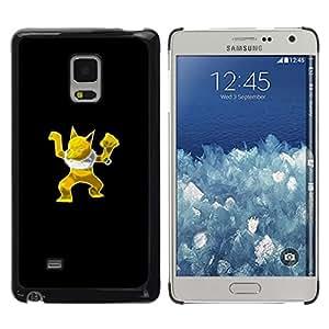 Caucho caso de Shell duro de la cubierta de accesorios de protección BY RAYDREAMMM - Samsung Galaxy Mega 5.8 - Oro P0kemon