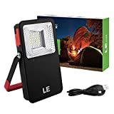 LE 10W Portable LED Flood lights, 700lm Rechargeable Camping Lantern, 5400mAh Power Bank, 3 Mode Daylight Security Light with SOS, Waterproof Work Light for Home Car Indoor Outdoor Hiking Tent Emerge