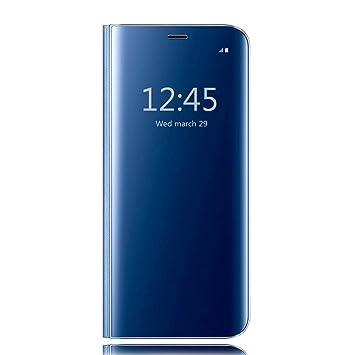 HiChili Funda Samsung Galaxy S6 Edge Plus, Clear Standing Flip Cover Carcasa Ultra Delgado Translúcido Espejo Slim Fit Smart Cover para Samsung Galaxy ...
