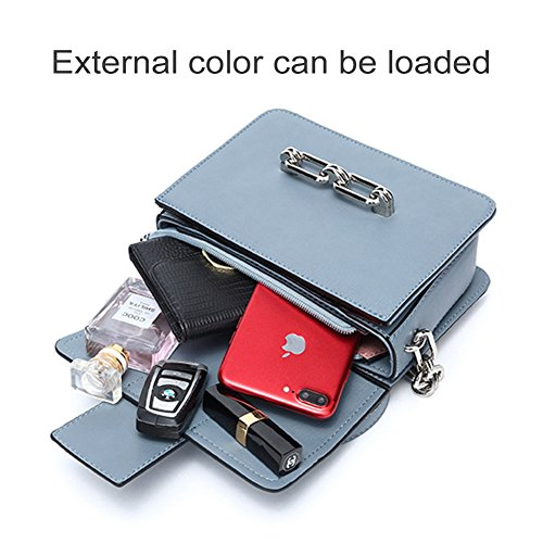 Solid Evening Color Ladies Purse Satchel Shoulder Yoome Square Purple Bag Chain Small HzAwqq