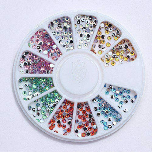 Mixed Color Chameleon Stone Nail Rhinestone Small Irregular Beads Manicure 3D Nail Art Decoration In Wheel Accessories -