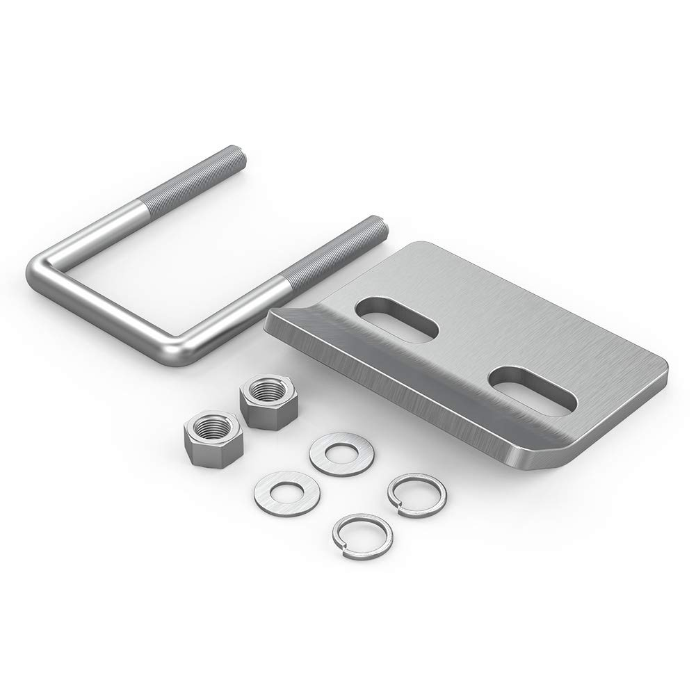 FieryRed Hitch Tightener for 1.25 and 2 Hitches Anti-Rattle Stabilizer Rust-Free Heavy Duty Lock Down Compatible All Silver zhongxin 5559003322