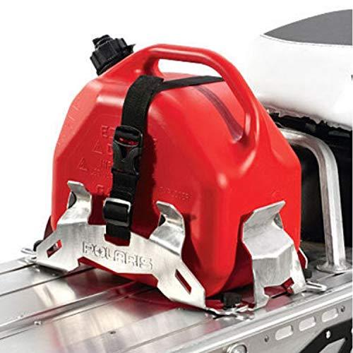 Voyageur Small Carrier - Genuine Pure Polaris Snowmobile RMK/Voyageur/Assault Lock & Ride Adjustable Fuel Can Rack Aluminum pt# 2879790