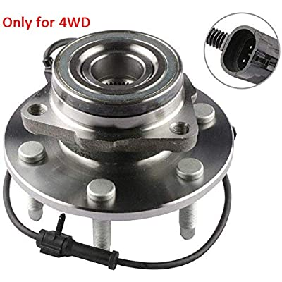 MOSTPLUS Wheel Bearing Hub Front Wheel Hub and Bearing Assembly 515036 for Chevy GMC with ABS 6 Lug ONLY for 4WD: Automotive
