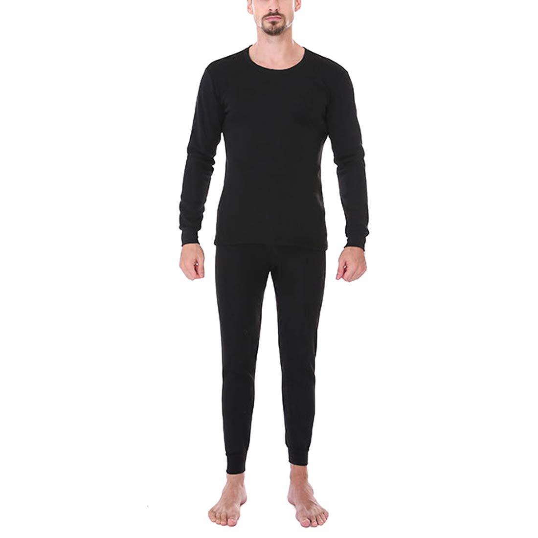 Aiweijia Uomo Termico Biancheria Intima Impostato Tenere Caldo Addensare Allenarsi Completo da Uomo Manica Lunga Top e I Pantaloni
