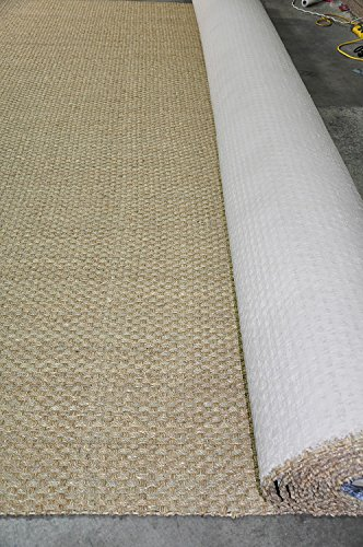 - NaturalAreaRugs Wall to Wall Basketweave Seagrass Carpet - 13' Wide, Custom Lengths up to aprox. 98'