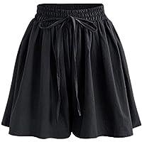 Elonglin Women's Summer Loose A Line Wide Leg Shorts Casual Shorts Elastic Waist Beach Shorts Culottes Shorts Lounge…