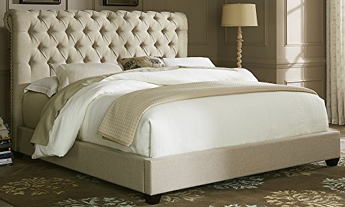 Liberty Furniture 100-BR-QSL Upholstered Sleigh Bed, Queen, Natural
