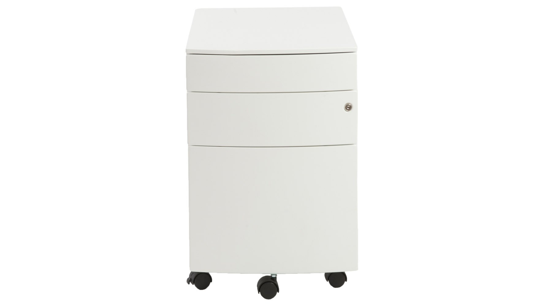 Olson 2 Pencil Drawers Filing Cabinet in White