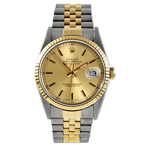 Rolex Datejust Champagne (Rolex Datejust automatic-self-wind mens Watch 16233 (Certified Pre-owned) )
