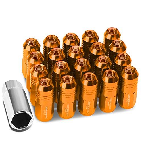20-Pcs M12 x 1.5 Orange Lug Nuts +1 X Deep Drive Extension -