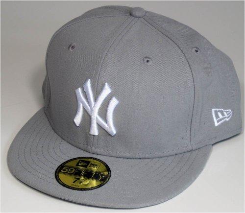 NEW YORK YANKEES MLB–Casquette NEW ERA–Basic–Gris/Blanc