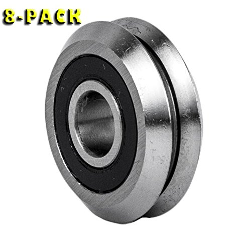 "Package of 8  V Groove Ball Bearing  3//8/"" 8 pieces"