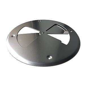 """LavaLock 8"""" aluminum pinwheel bbq smoker pit intake blade damper vent set"""