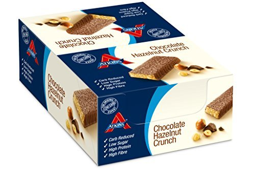 Atkins 60g Advantage Chocolate Hazelnut Crunch Bars - Pack of 16 by Atkins by Atkins International ltd (Image #1)