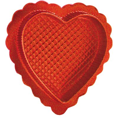(Valentines Day Candy Box - Red Heart Shaped Box w/ Clear Lid - 2oz - Pack of 5 - DIY)