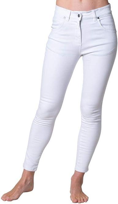 Rupert And Buckley Pantalones De Mezclilla Ajustados Para Mujer Denim Stretch Fit Mid Rise Start Blanco Blanco 44 Amazon Es Ropa Y Accesorios