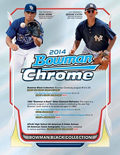 2014 Bowman Chrome Baseball Cards Hobby Box - 18 Packs/Box, 4 Cards/Pack - 2 Rookie Autographs Per Box (9/24 Release Date) - Masahiro Tanaka, Billy Hamilton, Xander Bogaerts & Jose - Cards Hobby Chrome Bowman Baseball