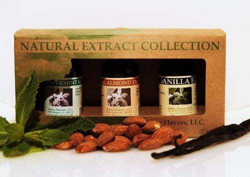 Bakto Baker's Collection Gift Box Vanilla-Peppermint-Almond-(3-1 OZ Bottles)