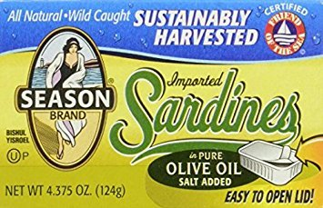 Season Sardines in Olive Oil, 4.375-ounce (Pack of 6) by Season 1