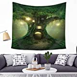 Genie Woodhouse Tapestry Landscape Wall Art Hangings Echinopsis Tubiflora Watercolor Printed - large Tablecloths Wall Backdrop Hippie Bedspread Tapestry 59x52 inches HYC05-US