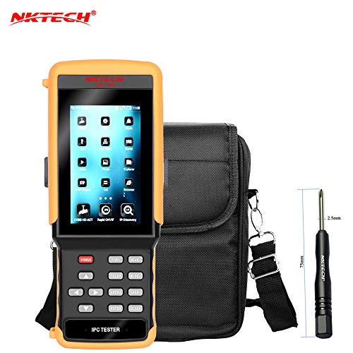 Capacitance Screen Touch - NKTECH NK-896 IP Camera CCTV Tester 5-in-1 1080P HD Video Security Monitor Analog Network Cameras DVR Kits Test WiFi 4.3