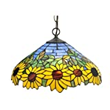 Meyda Tiffany 119560 Wild Sunflower Pendant - 16
