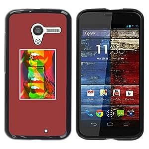 """Pulsar Snap-on Series Teléfono Carcasa Funda Case Caso para Motorola Moto X Motorola Moto X ( 1st Generation ) , Labios abstractos del beso del arte pop minimalista"""""""
