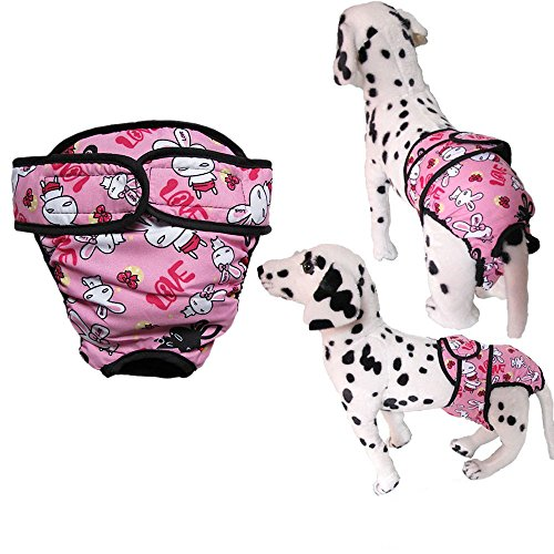 usable Unisex Male Female Dog Pet Bicth in Season Heat Panty Hygiene Pants Comfy Cotton Diapers Adjustable Cover Up Physical Sanitary Pants Shorts Panties Nappy Brief Underwear ()