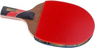 Homyl Raquette de Tennis de Table en Bois Style Poignée Longue /Shakehand Avec Sac de Rangement