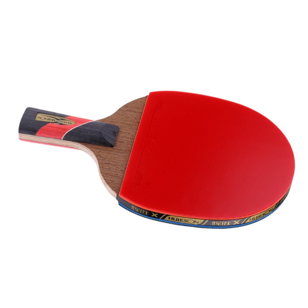 MagiDeal Wood Shakehand Grip Style Fast Attack Table Tennis Racket Ping Pong Bat Paddle - Lightweight & Practical & Durable