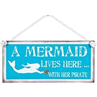 Ohio Wholesale a Mermaid Lives here with her Pirate Sign