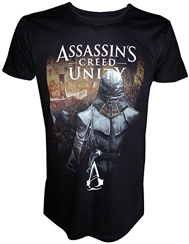 Assassin's Creed Unity Arno: Streets Of Paris Large T-Shirt Black TS178921A