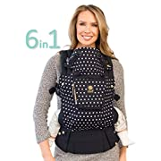 LÍLLÉbaby The COMPLETE Original SIX-Position, 360° Ergonomic Baby & Child Carrier, Spot on Black - Cotton Baby Carrier, Comfortable and Ergonomic, Multi-Position Carrying for Infants Babies Toddlers