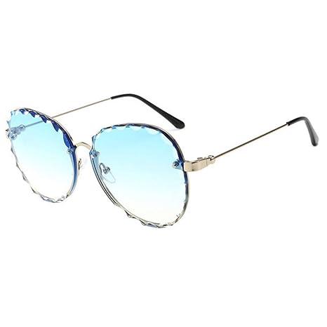 Yangjing-hl Gafas de Sol de gradiente Transparente Mujer ...
