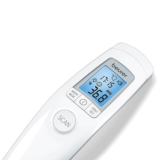 Beurer FT90 Termometro clinico digital sin contacto con lapiel, color blanco - 1 termometro digital
