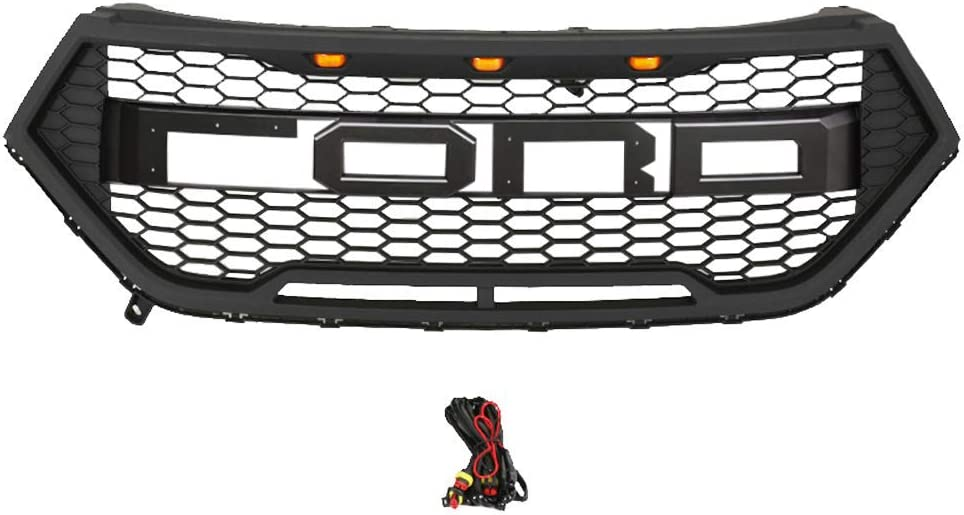 Matte Black Haitzu Front Grill Fit for Ford Edge 2015-2018 with Replaceable Letters