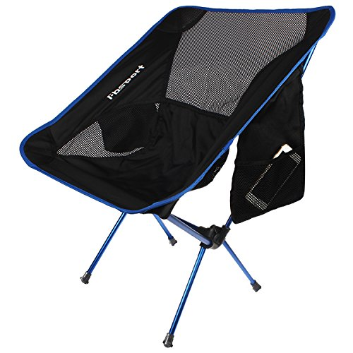 Lightweight Folding Camping Backpack Chair and Table,Fbsport Compact & Heavy Duty Portable Chairs and Table For Hiking Picnic Beach Camp Backpacking Outdoor Festivals (Camping Chair_Dark Blue) (Compact Tables And Chairs)
