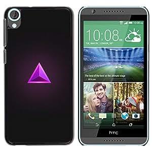 Estuche Cubierta Shell Smartphone estuche protector duro para el teléfono móvil Caso HTC Desire 820 / CECELL Phone case / / Triangle Ruby Grey Purple Jewel Bling /