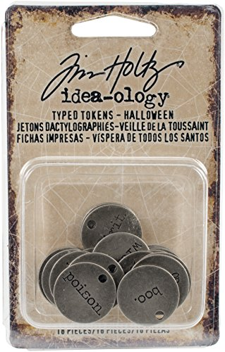 Tim Holtz TH93601 Idea-Ology Halloween Typed Tokens