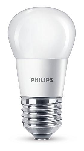 Philips Bombilla Gota Vela LED de luz cálida, 4 W/25 W, Casquillo
