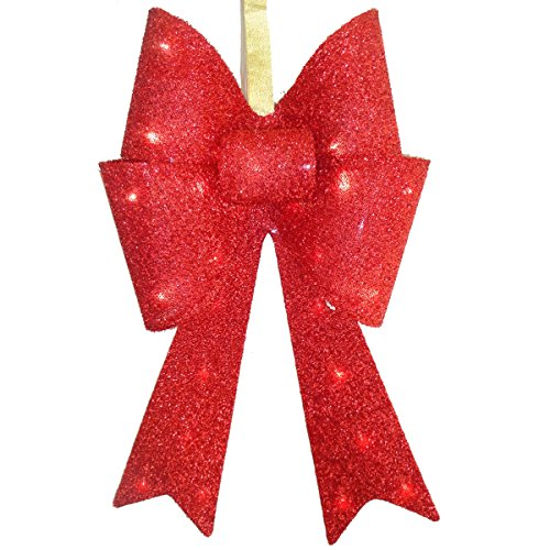 Light Up Christmas Bow Outdoor in US - 7