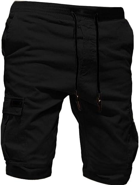 Kword Pantaloni da Uomo Sport Benda Casual Sciolto Pantaloni Tuta con Coulisse Pantaloni Corti da Uomo Esercito Combattimento Shorts Cargo Mimetici Casual Mimetico Lavoro Pantaloni met/à