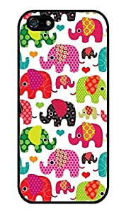 SUUER Custom Colorful Elephant Pattern Personalized Custom Hard Case for iPhone 4 4s Durable Case Cover