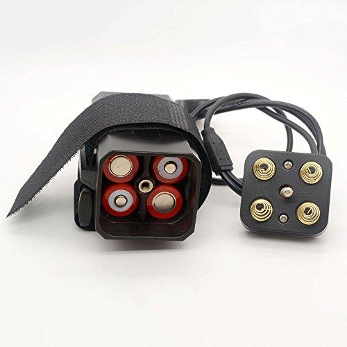 18650 caja de interfaz dual DC Batería USB impermeable banco de la energía 5V / 8.4V Cubierta para el teléfono móvil iPhone de la cámara LED luz de la bicicleta
