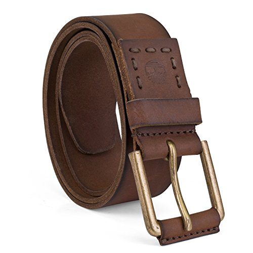 Timberland Men's Big and Tall Casual Leather Belt, Brown, 52