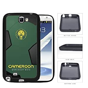 Cameroon World Cup 2014 Soccer Ball Rubber Silicone TPU Cell Phone Case Cover Samsung Galaxy Note II 2 N7101