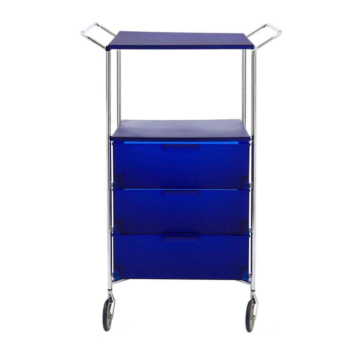 Kartell 2330L7 Container Mobil, 3 Schubladen, blau